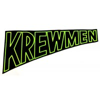 "KREWMEN - EMBROIDERED PATCH ""GREEN LOGO"""