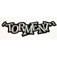 TORMENT - EMBROIDERED WHITE LOGO