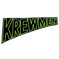 "KREWMEN - EMBROIDERED BACKPATCH ""GREEN LOGO"""