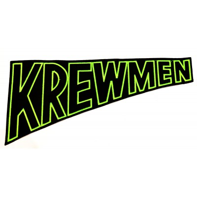"KREWMEN - EMBROIDERED PATCH ""GREEN LOGO"""